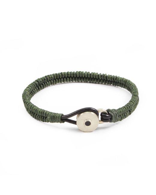 Lulu Frost - Multicolor George Frost Brave & New Woven Bracelet - Fir Green for Men - Lyst