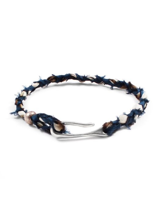 Lulu Frost   Blue Taros Bracelet - Teal/cream for Men   Lyst