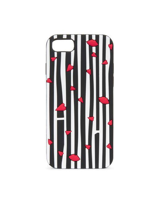 Lulu Guinness | Black Cut Out Lip Stripe Iphone 6 & 7 Case | Lyst
