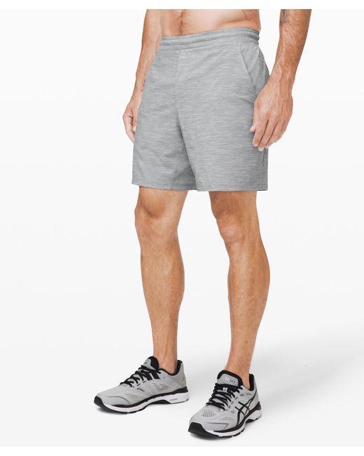 """lululemon athletica Gray Pace Breaker Short 7"""" Lined for men"""