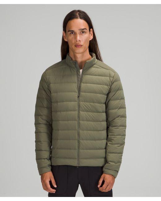 lululemon athletica Green Navigation Stretch Down Jacket for men