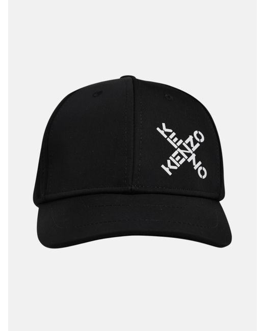 KENZO Black Cappellino Loghi X Nero for men