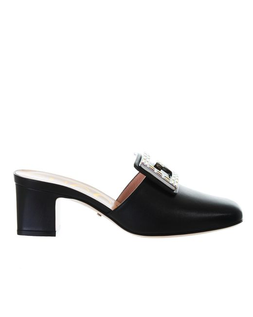 fe1a5ff21f6 Lyst - Gucci GG Marmont Shoes in Black - Save 2%