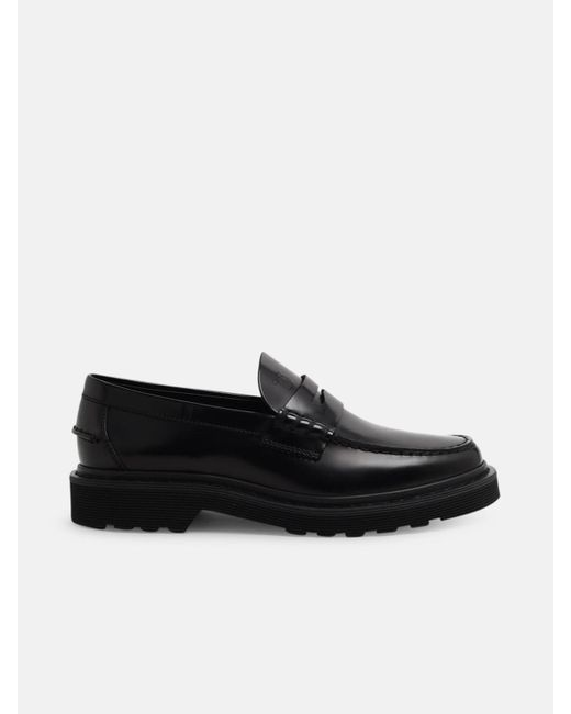 Tod's Black Lug-sole Loafers for men
