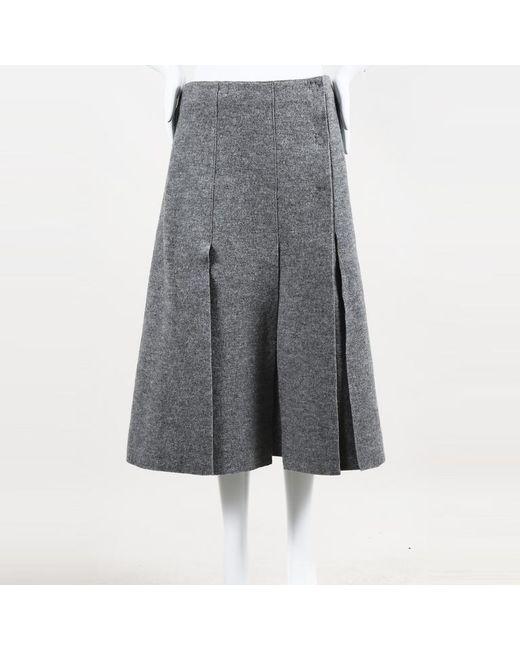 1fbfc33ee2 Proenza Schouler Pleated Wool A Line Skirt in Gray - Lyst