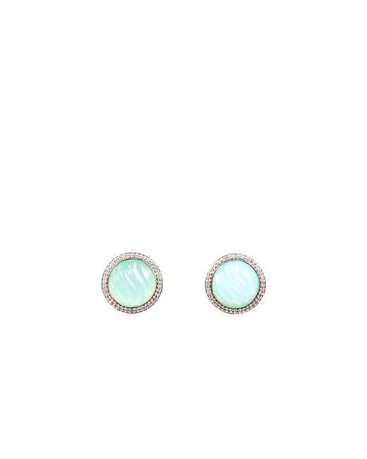 David Yurman Green Sculpted Chalcedony Earrings