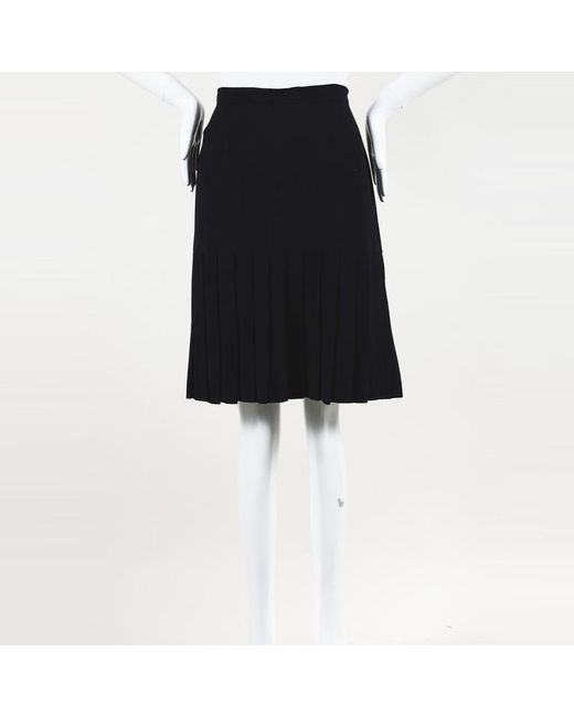 Chanel - Blue Boutique Pleated Short Skirt - Lyst