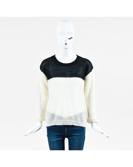 Isabel Marant - Etoile Cream Black Colorblock Sweater - Lyst