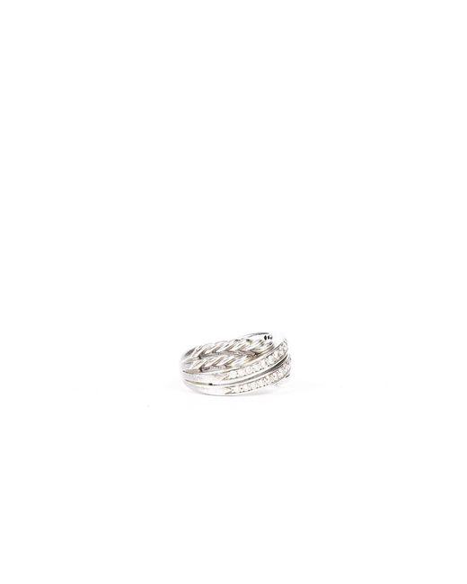 David Yurman Metallic Crossover Sterling Diamond Ring