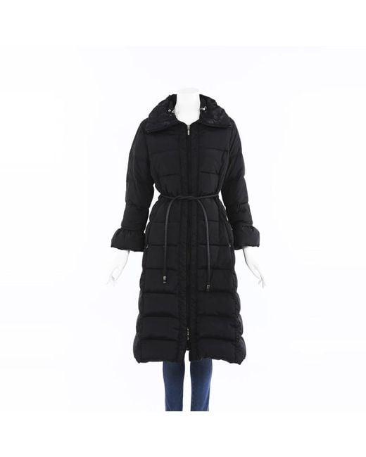 Moncler Black Full Length Puffer Coat