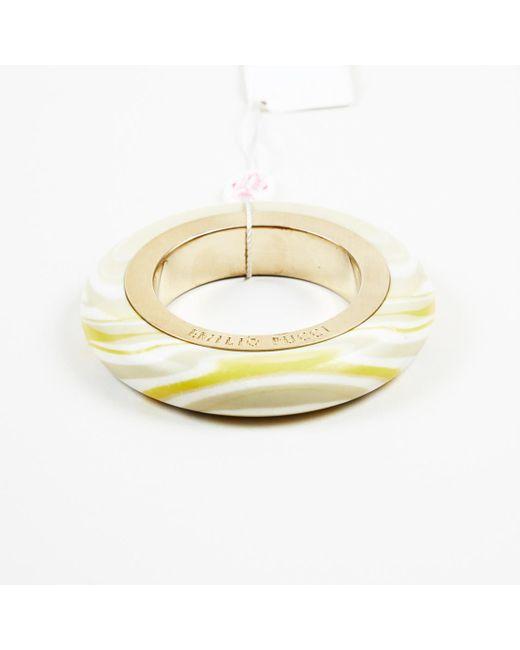 Emilio Pucci - Metallic Marble Effect Bangle Gold Tone Acrylic Bracelet - Lyst