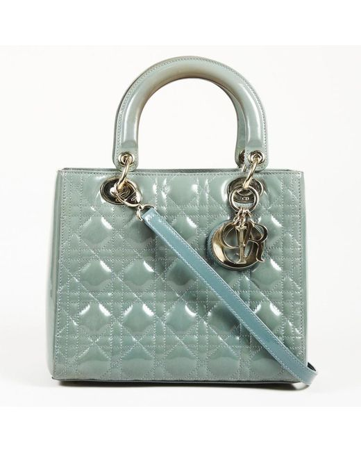 Lyst - Dior Cannage Patent Leather Medium