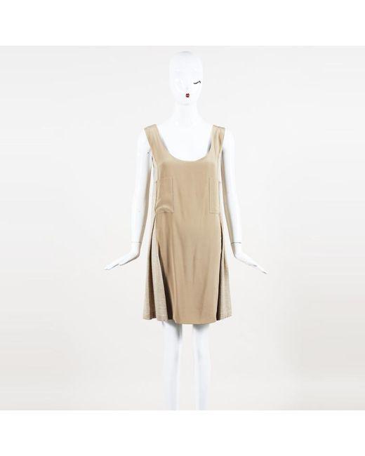 9c205c55b73 Lyst - Chloé Cashmere   Silk Tank Dress in Natural