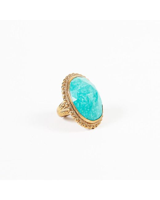 Stephen Dweck Blue Turquoise Bronze Cocktail Ring