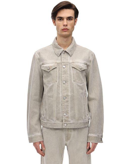 メンズ A_COLD_WALL* オーバーダイコットンデニムジャケット Natural