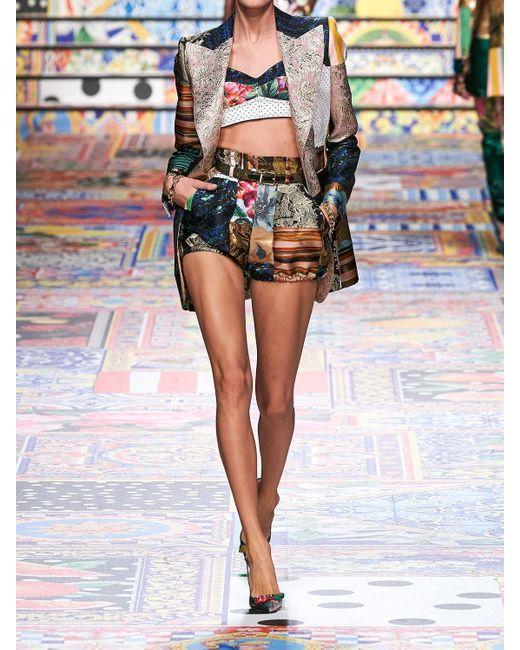 Dolce & Gabbana ジャカードビスチェクロップトップ Multicolor