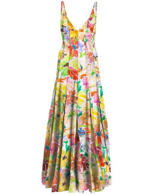Rosie Assoulin Floral ストレッチビスコースドレス Multicolor
