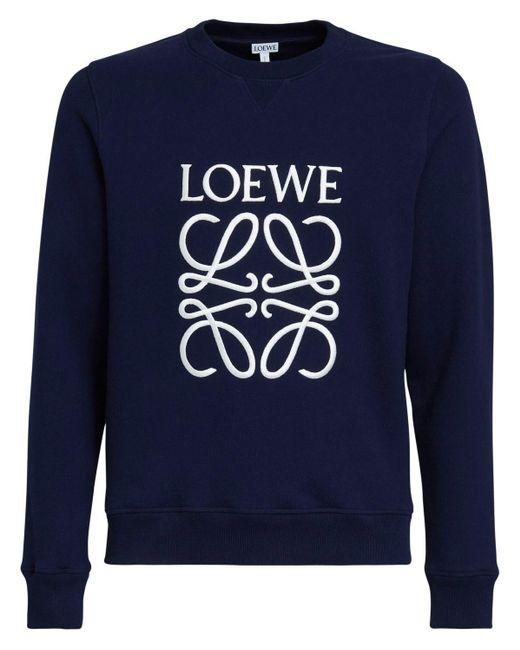 メンズ Loewe Anagram コットンスウェットシャツ Blue