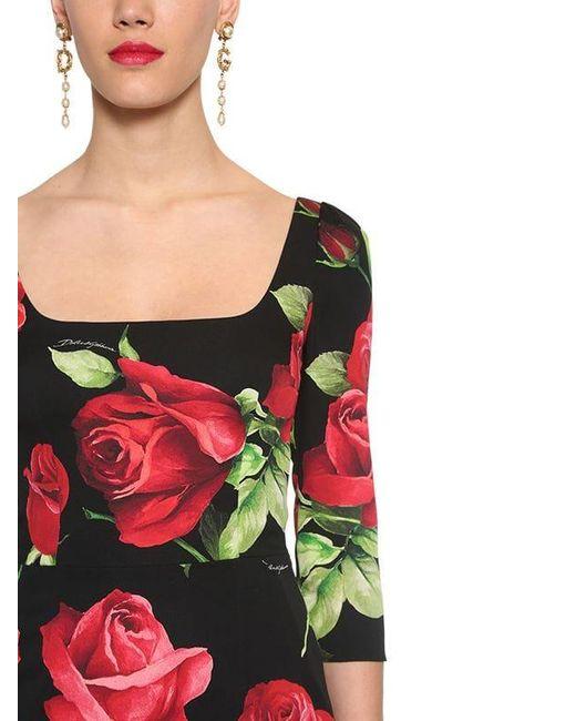 Платье Из Шелка Стретч Dolce & Gabbana, цвет: Red