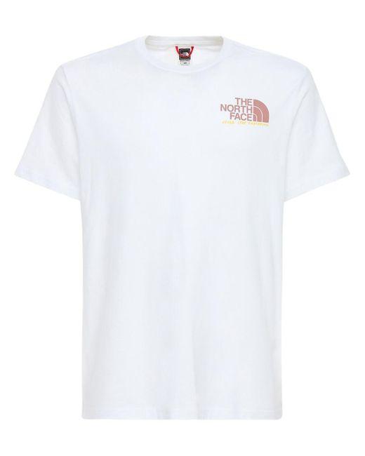 メンズ The North Face グラフィックコットンtシャツ White