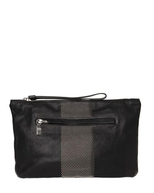Alexander McQueen | Black Micro Studded Leather Pouch for Men | Lyst