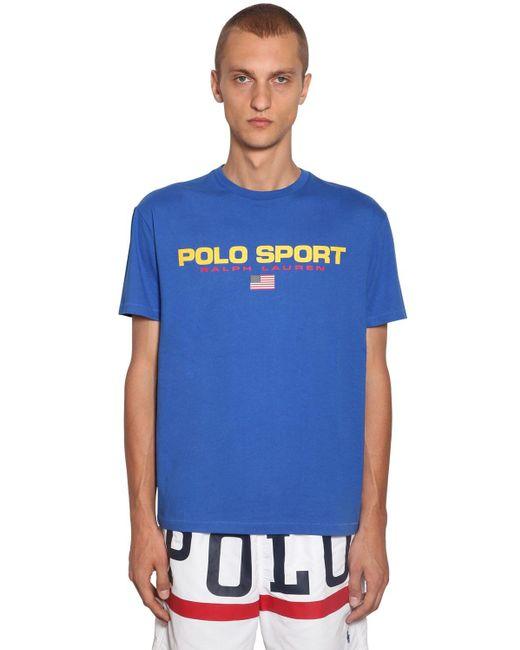メンズ Polo Ralph Lauren コットンtシャツ Blue