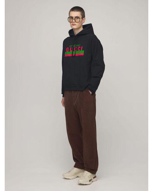 メンズ Gucci Original コットンフーディー Black