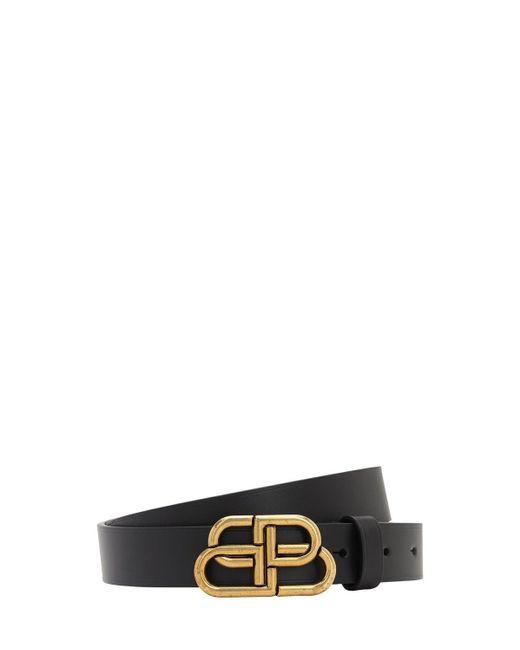 Кожаный Ремень 30mm Balenciaga, цвет: Black