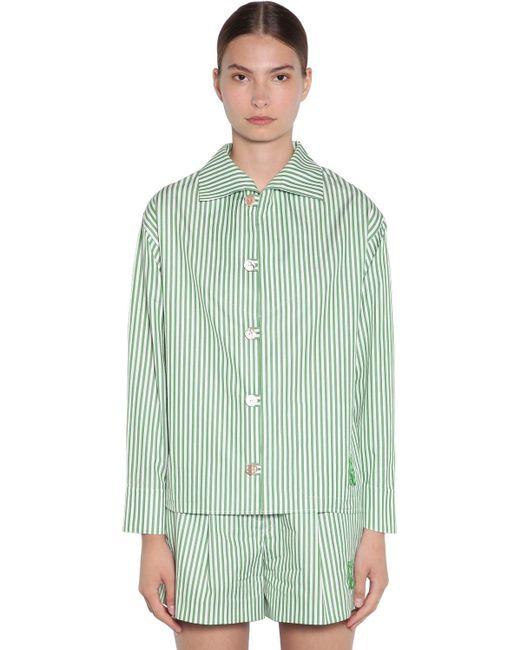 KENZO コットンポプリンシャツ Green