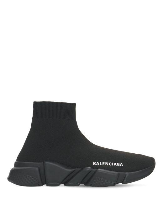 Кроссовки Из Искусственной Кожи И Сетки Меш 30мм Balenciaga, цвет: Black