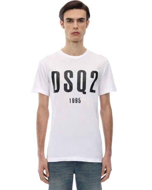メンズ DSquared² Cool Guyコットンジャージーtシャツ White