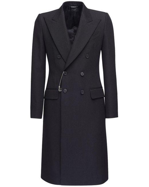 メンズ Givenchy ダブルブレステッドウールコート Black