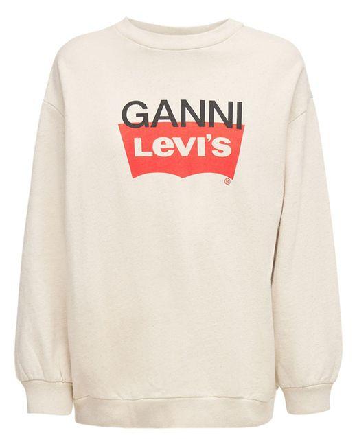 Ganni Levi's ジャージースウェットシャツ White