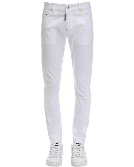 メンズ DSquared² コットンツイルジーンズ 16cm White
