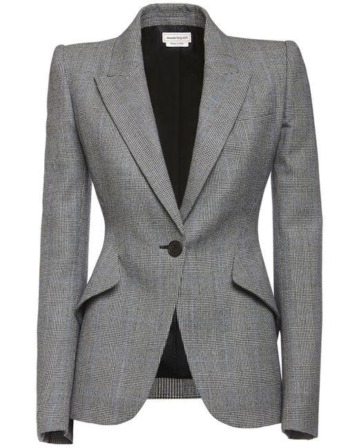 Alexander McQueen ウールジャケット Gray