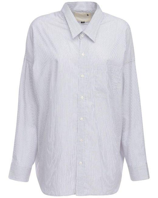 R13 コットンポプリンシャツ White