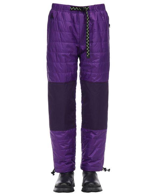 メンズ Nike Acg Primaloftトレイルパンツ Purple