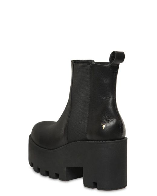 Windsor 80MM ALIEN LEATHER ANKLE BOOTS eJykoH
