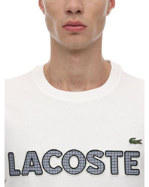 メンズ Lacoste コットンジャージーtシャツ White