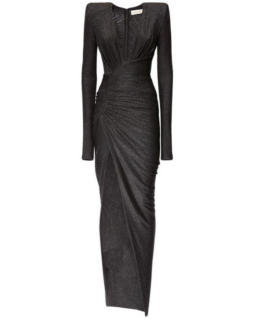 Длинное Платье Из Джерси Стрейч Alexandre Vauthier, цвет: Black