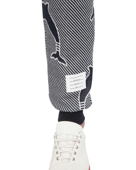 Pantaloni In Jersey Di Cotone di Thom Browne in Multicolor da Uomo