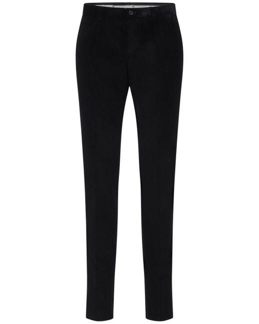 メンズ Dolce & Gabbana コットンベルベットパンツ 16cm Black