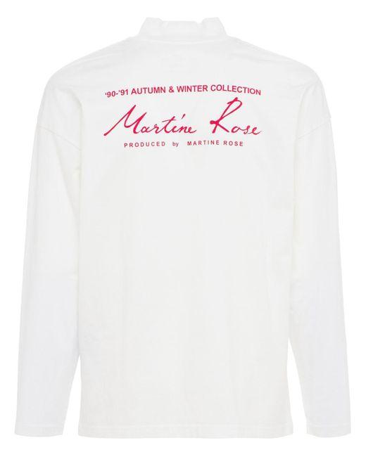 メンズ Martine Rose Season ジャージーモックネック長袖tシャツ White