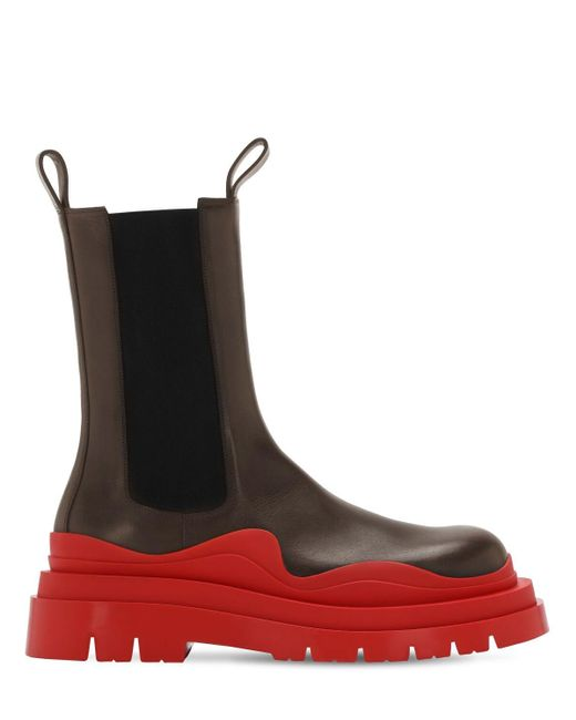 Кожаные Ботинки Lvr Exclusive 50mm Bottega Veneta для него, цвет: Black
