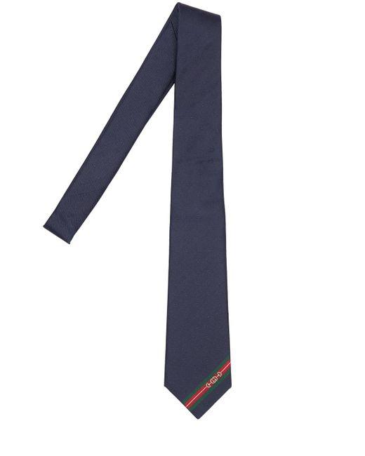 メンズ Gucci Gg シルクタイ 7cm Blue