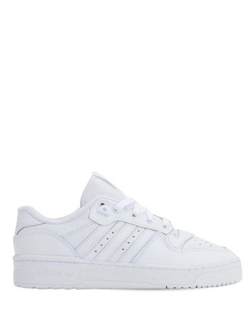 Adidas Originals Rivalry レザースニーカー White