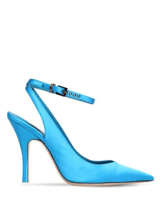 The Attico サテンパンプス 105mm Blue