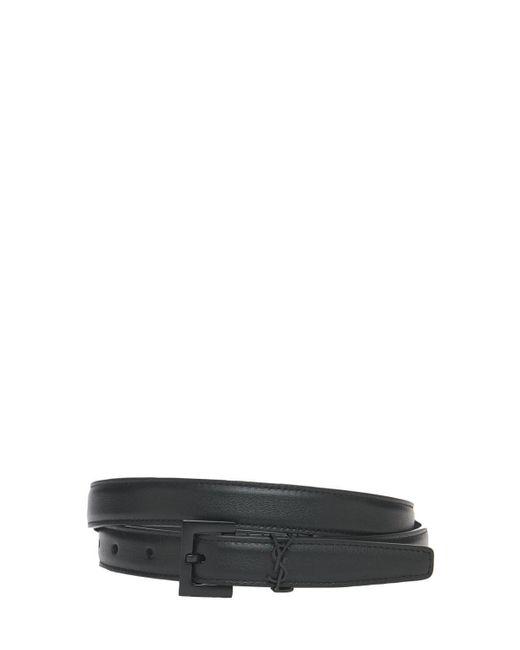 """Кожаный Ремень """"monogram"""" 2cm Saint Laurent, цвет: Black"""