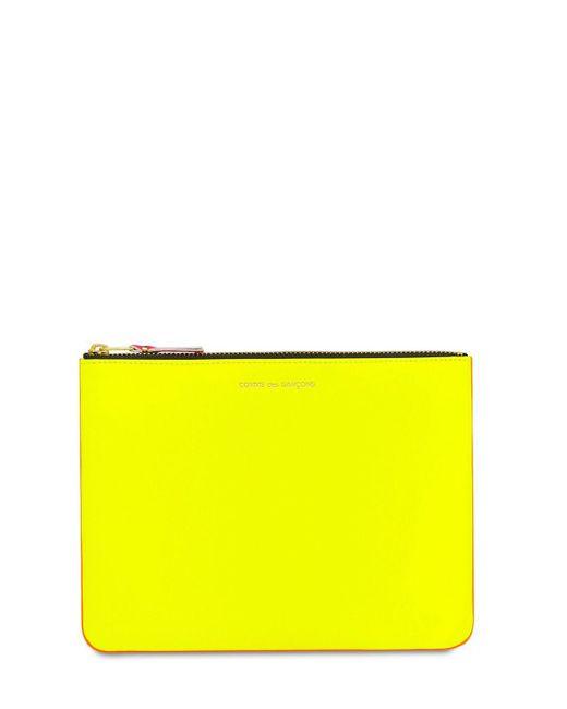 Comme des Garçons Super Neon レザーポーチ Yellow