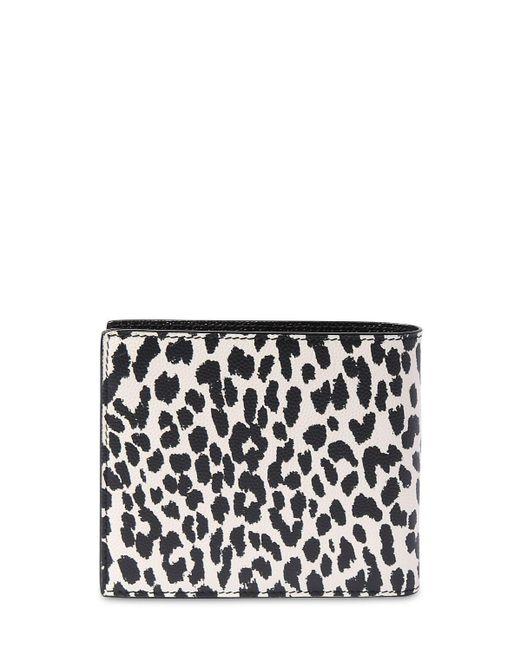 Кожаный Бумажник Saint Laurent для него, цвет: Black